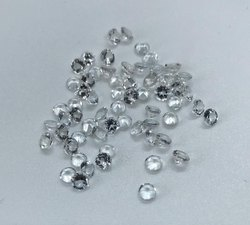 White Topaz Faceted