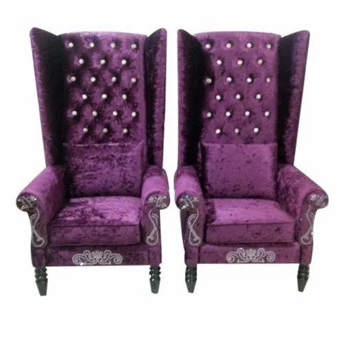 Modern Purple Bedroom High Back Chair, Guru Ji Furniture  ID