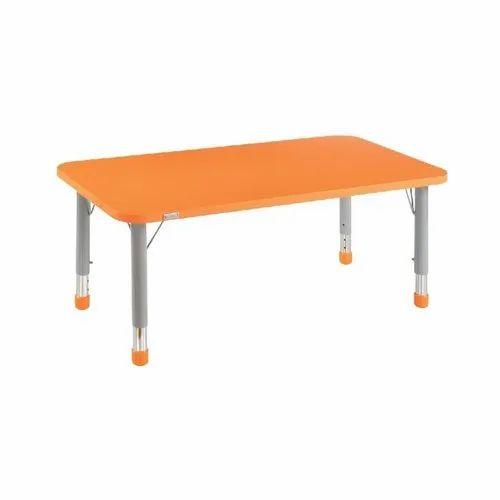 Rectangular Orange Rectangle Table