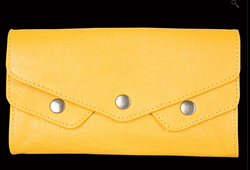 Fastrack Women Leather Yellow Wallet - C0360LYL01