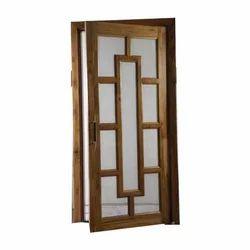 Brown Decorative Solid Wood Jali Door