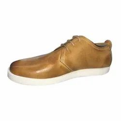 Casual Men Brown Leather Shoes, Size: 6-10 Uk, Packaging Type: Box