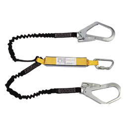 Kinetic Energy Absorber With Forked Twin Lanyards