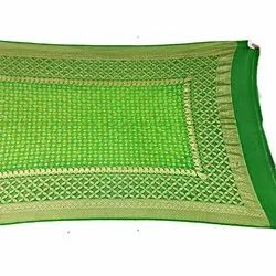 Green And Parrot Green Shaded Color Banarasi Georgette Dupatta