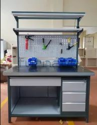 Ms Or Aluminium Profile Mild Steel Assembly Work Table