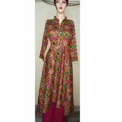 Ladies Rayon 3/4th Sleeve High Low Kurti, Size: L & XL