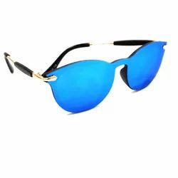 Blue Metal Fiber Stylish Sunglasses