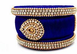 Blue Silk Thread Bangle Set