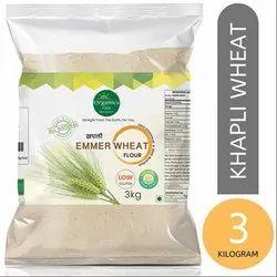 Organic Khapli Wheat Flour - Chakki Atta, Packaging Size: 25 kg