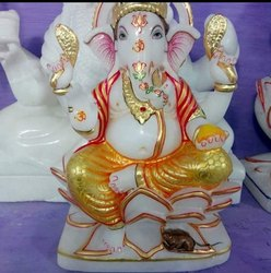 Bal Ganesh Marble Statue