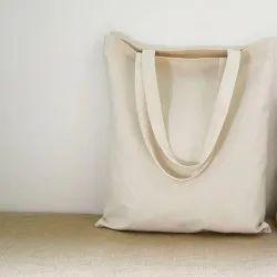 White Plain Cotton Carry Bag for Shopping