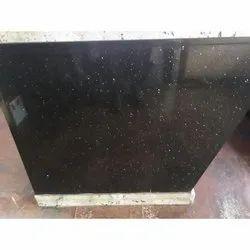 South India Black Galaxy Granite Slab, Thickness: 18 mm