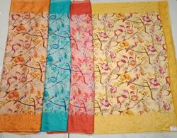 Ladies Kota Check Print Silk Saree
