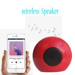 Red Apple iPhone X Compatible Bluetooth Speaker