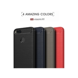 Rubber And Silicon Carbon Fiber Xiaomi Mi A1 Original Back Cover