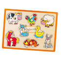 Flat Puzzle Farm Animals
