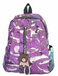 Purple Glittering Girls Backpack