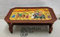 Wooden Rectangular Mughal Painting Table for Home, Size: 30x75x45 Cm