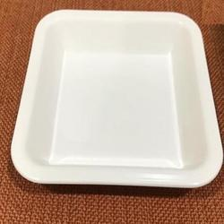 White Snack Plate /Chat Plate