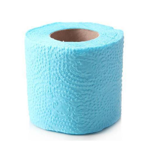 Isolated Colored Toilet Paper Roll