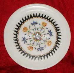 Marble Inlay Handmade Plate