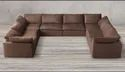 Real Leather Or Pu Sofa Sets In U Shapes, Warranty: More Than 5 Year