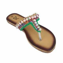 5a6bd6cd46fb Z-20 Pearl Open-Toed Ladies Flats