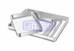 Aluminium Rectangular Surgical Sterilizing Tray