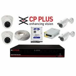 Abs Digital Camera 1.3 MP CP Plus 4 HDCVI Camera Kit, 15 to 20 m, for Security Purpose