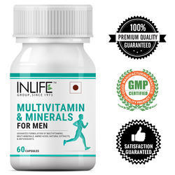 INLIFE Multivitamins & Minerals Amino Acids Antioxidants With Ginseng Extract For Men - 60 Capsules