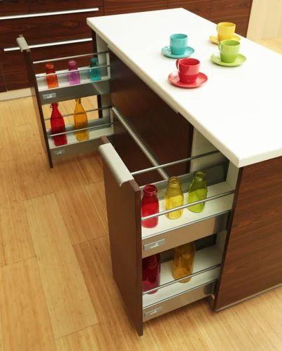 L Shape Wooden Kitchen Cabinet Service Warranty 5 10 Years