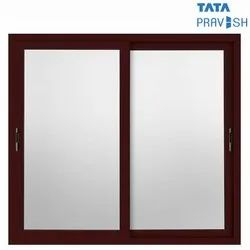 Powder Coating (60-80 Microns) Tata Pravesh Canvas Sliding Aluminium Window