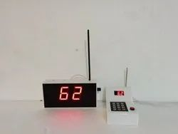 Wireless Token Number Display System (For Doctors,Hospitals,Banks,Cafe,Restaurant)