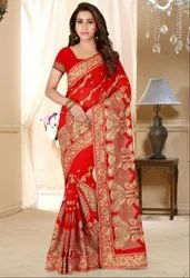 Bridal Embroidered Georgette Saree