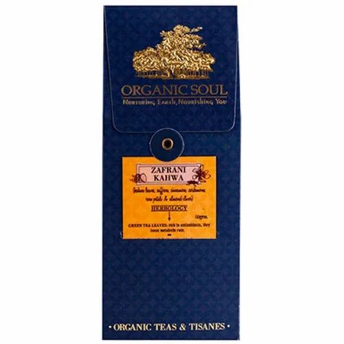 Organic Soul Zafrani Kahwa, Packaging Size: 50gm, Packaging Type:Box