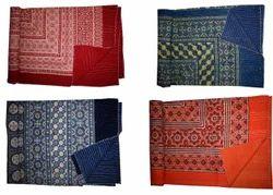 Hand Block Print Ajarak Print Kantha Quilt