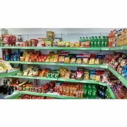 Mild Steel Supermarket Corner Rack