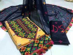 Semi-Stitched Cotton Salwar Suit, Dry clean