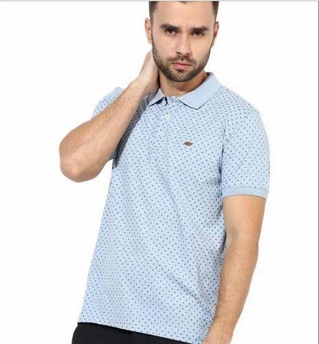 91d8dcad Crimsoune Club Light Blue Polo Neck Printed T Shirt at Rs 879 /piece ...