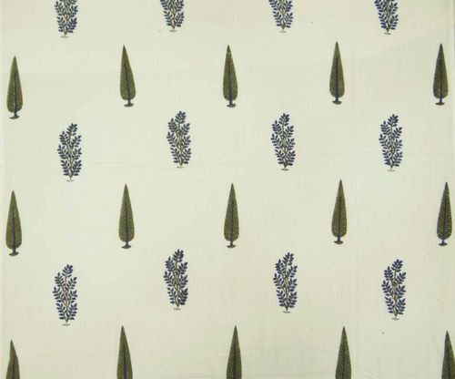 Same As Picture 10 Meter Hand Bloc Green Color Leaf Print Cotton Fabric, GSM: 50-100 ,Use: Garments