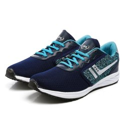 Mens Navy Blue Sea Green Synthetic Walking Shoes