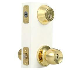 Brass Door Lock, Polished