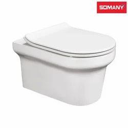 White Somany Prada - Wall Hung Toilet for Bathroom Fitting