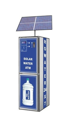 Solar Water Atm Or Vending Machine वाटर एटीएम Wave R O