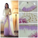 Satin Silk Party Wear Shaded Net Saree, With Blouse Piece, 5.5 M (separate Blouse Piece)
