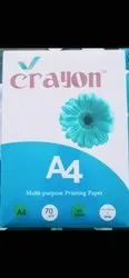 White A4 Size Copier Paper Crayon, Packaging Size: 500 Sheets per pack, Packaging Type: Box Packaging