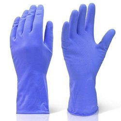 Blue Cleaning Hand Gloves