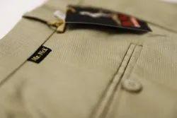 Poly Blend Party Wear Formal Trouser ( LT Golden), Machine wash