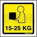 Yellow & Black 140543 Shipping Weight Instruction Sticker