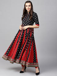 Printed Flared Anarkali